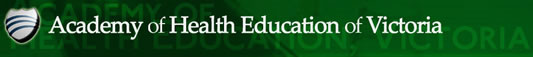 Academy of Health Education of Victoria Logo and Images