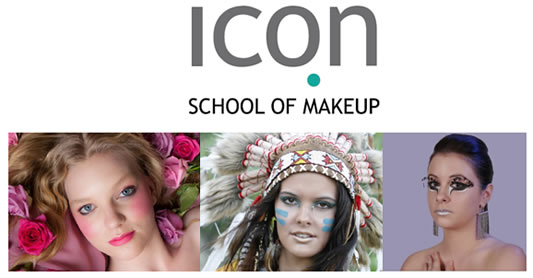 ICON School of Makeup Logo and Images