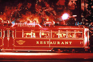 Colonial Tramcar Restaurant Logo and Images