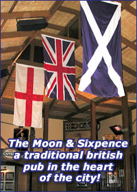 Moon and Sixpence British Pub Logo and Images