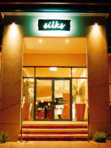 Silks Bar & Bistro Logo and Images