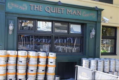 The Quiet Man Irishman Pub Logo and Images