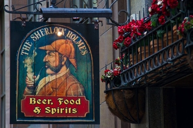 The Sherlock Holmes Inn Logo and Images