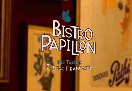 Bistro Papillon Logo and Images