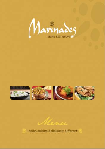 Marinades Indian Restaurant Logo and Images