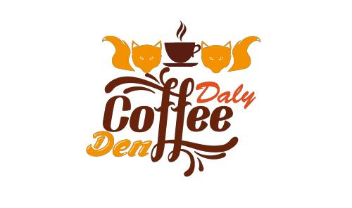 Daly Coffee Den Logo and Images