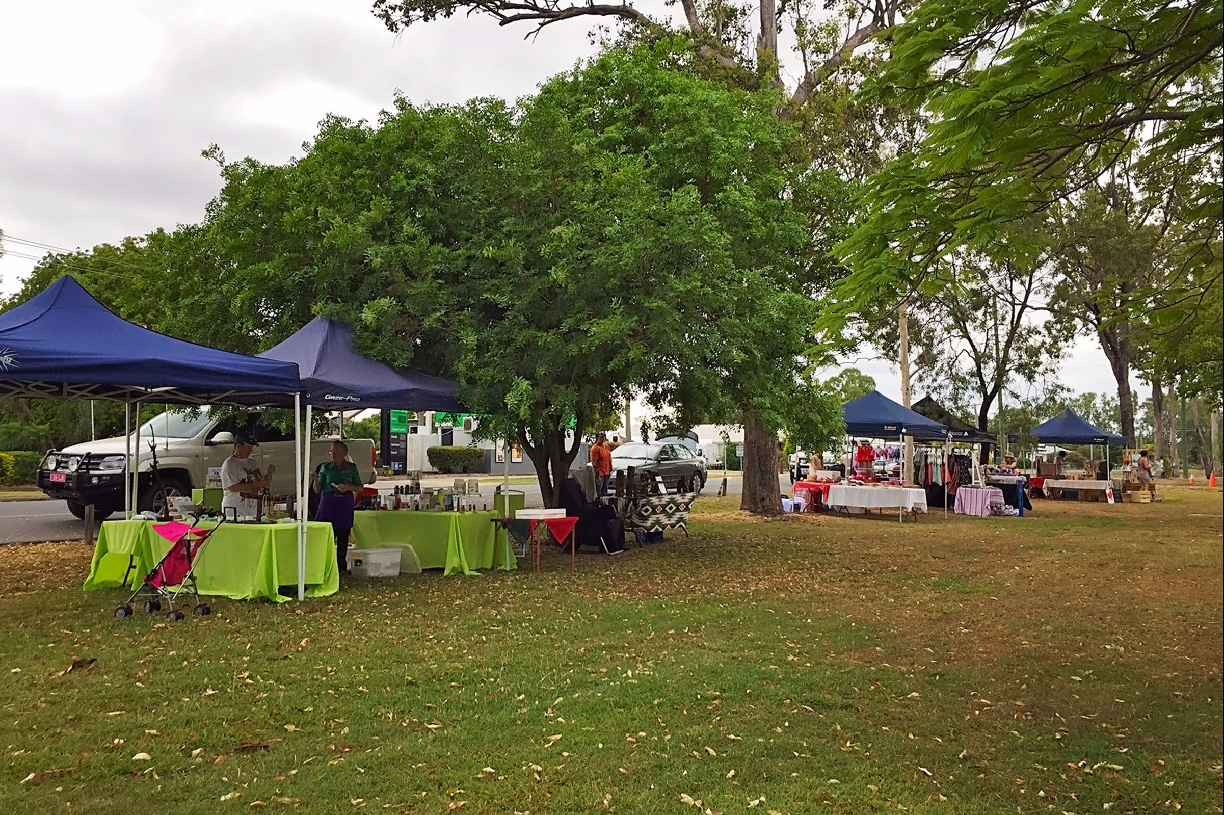 Biloela Markets in the Park Logo and Images