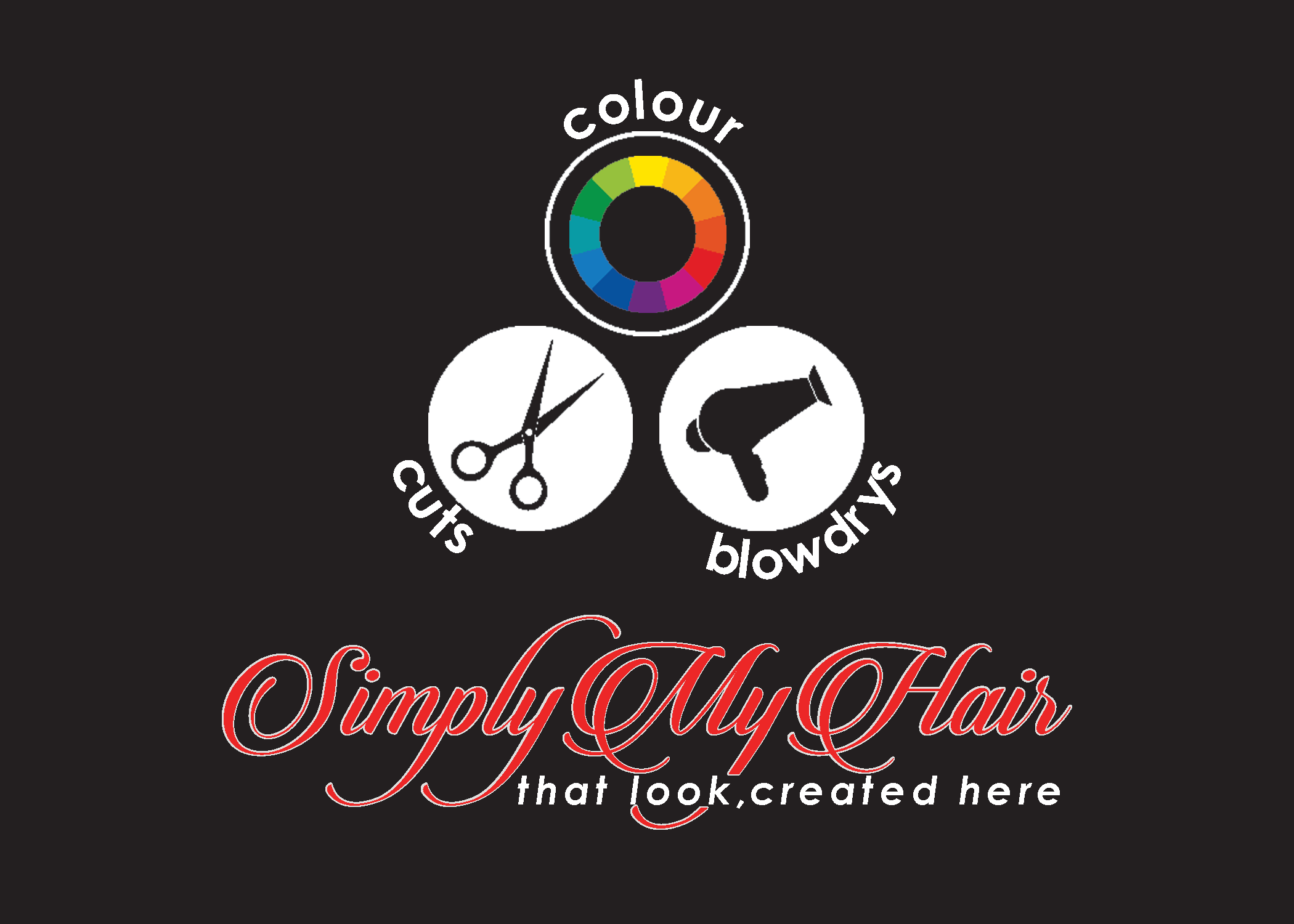 Simply My Hair Logo and Images