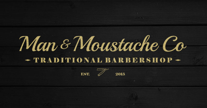 Man & Moustache Co Logo and Images