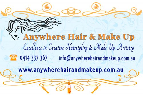 Anywhere Hair & Make Up Logo and Images