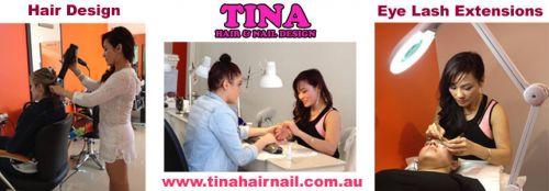 Tina Hair And Nail Design Logo and Images