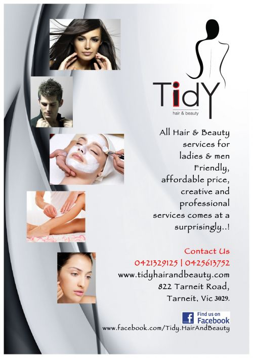 Tidy Hair and Beauty Logo and Images