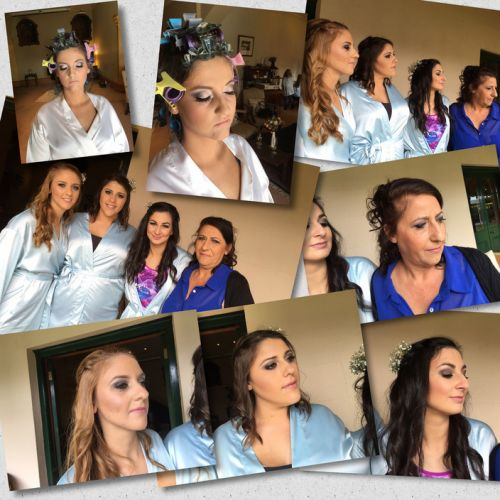 Glam on the Go - Mobile Hair and Make up Studio Logo and Images