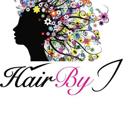 Hair By I Logo and Images