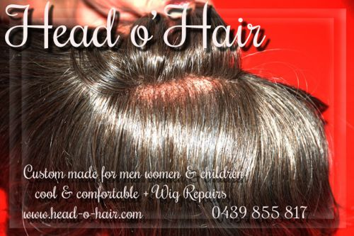 Head o' Hair Logo and Images