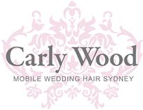 Carly Wood Mobile Wedding Hair Sydney Logo and Images