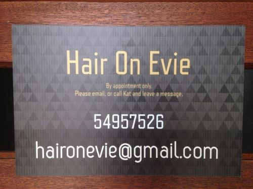 Hair On Evie Logo and Images