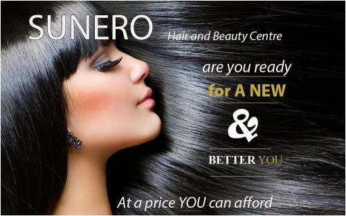 Sunero Hair & Beauty Centre Logo and Images