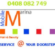 Mobile Marina Hair & Beauty Service @ Your Doorstep Logo and Images