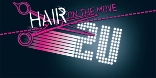 Hair on the Move 2 U Logo and Images