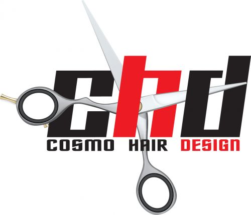 Cosmo Hair Design Logo and Images