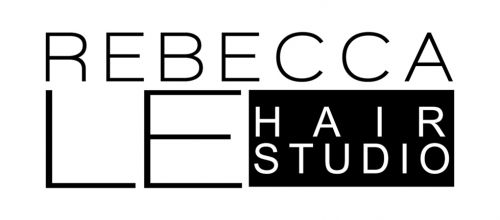 Rebecca Le Hair Studio. Logo and Images