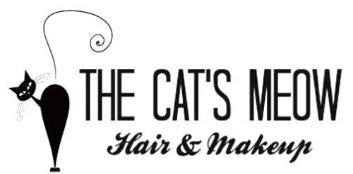 The Cat's Meow Hair & Makeup Logo and Images