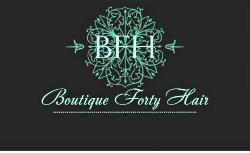 Boutique Forty Hair Logo and Images