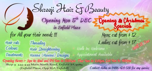 SHREEJI HAIR AND BEAUTY Logo and Images