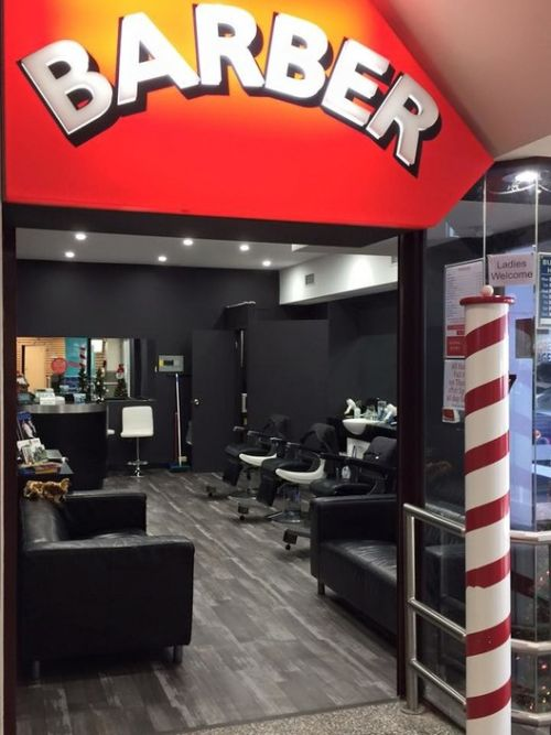 Kenmore Village Barber Logo and Images