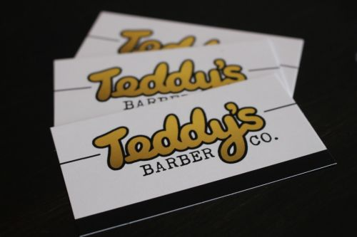 Teddy's Barber Co. Logo and Images