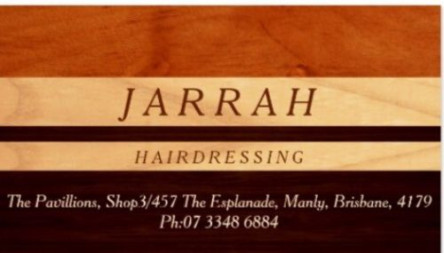 Jarrah Hairdressing Logo and Images