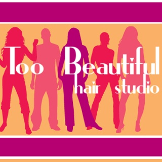 Too Beautiful Hair Studio Logo and Images