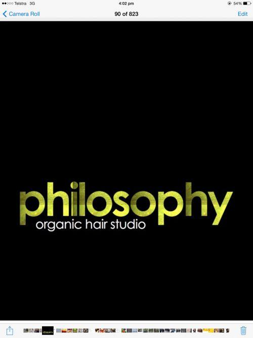 Philosophy Organic Hair Studio Logo and Images