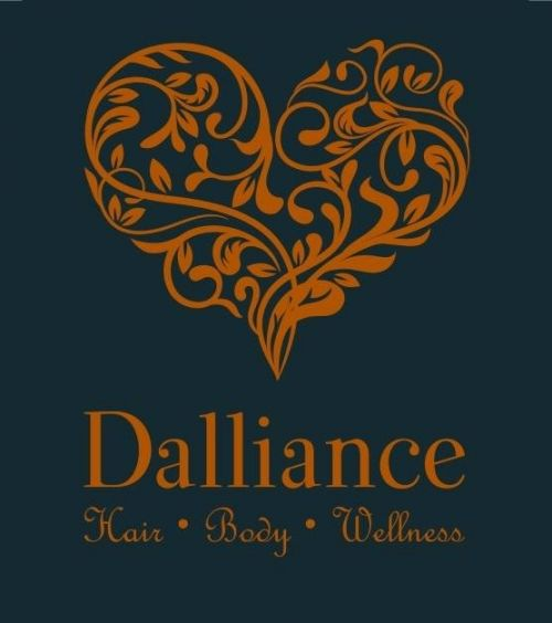 Dalliance Hair Body Wellness Logo and Images
