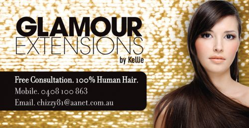 GLAMOUR EXTENSIONS by Kellie Logo and Images