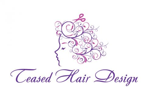 Teased Hair Design Logo and Images