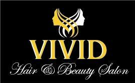 Vivid Hair and Beauty Logo and Images