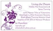 Living the Dream - Mobile Hair Extensions & Spray Tan Logo and Images
