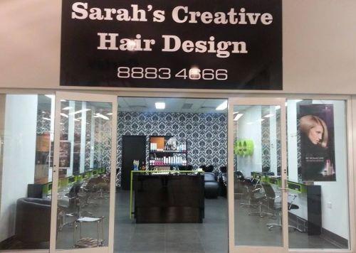 Sarahs Creative Hair Design Logo and Images