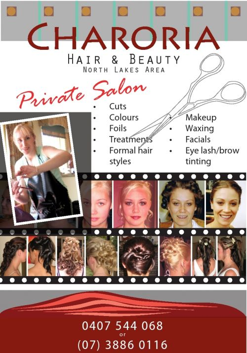 Charoria Hair and Beauty Logo and Images