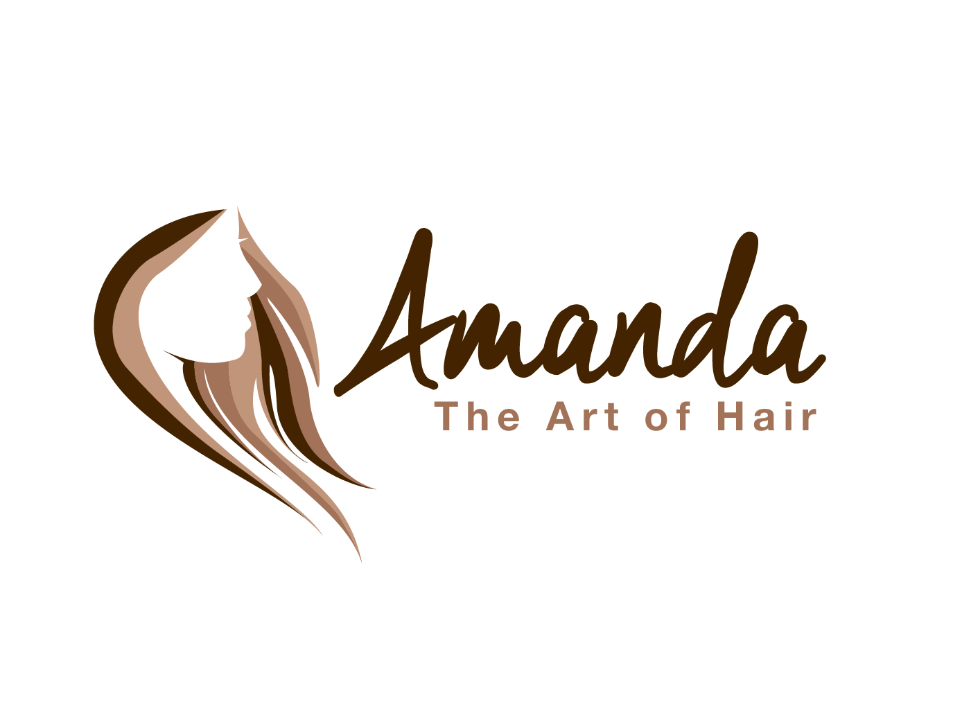 Amanda the Art of Hair Logo and Images