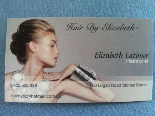 Elizabeth Latimer Hairdressing Logo and Images