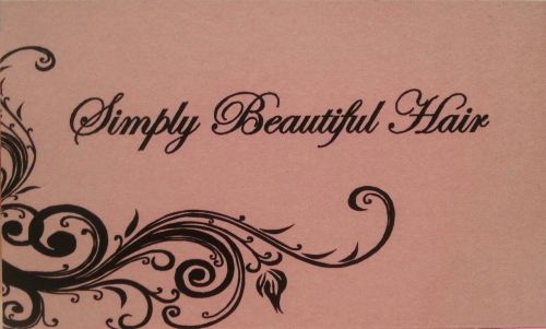 Simply Beautiful Hair Logo and Images