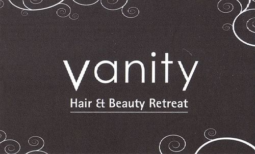 Vanity Hair and Beauty Retreat Logo and Images