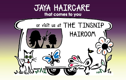 Jaya Haircare Mobile Hairdressing Logo and Images