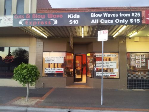 Cuts & Blowave Express Logo and Images