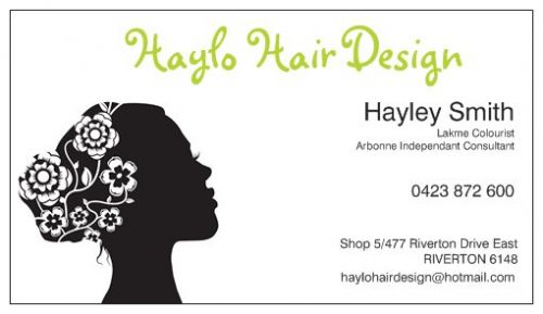 Haylo Hair Design Logo and Images