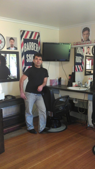 Mehmets Barber Shop Logo and Images