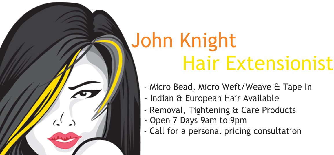 John Knight Hair Extensionist Logo and Images